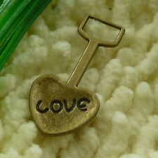 free ship 40 pieces Antique bronze love shovel charms 31x18mm #2911