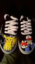 Pokemon hand painted shoes ft. Pikachu and Ash
