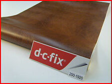 DC FIX Brown Leather Effect Design 1m x 45cm Sticky Back Plastic Self Adhesive
