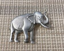 1 AFAICA ZOO ANIMALS ELEPHANT PEWTER PIN ALL NEW