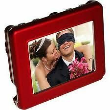 "Digital Foci Pocket Album OLED, Portable Digital 2.8"" Viewer  P20-130 Red"