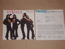 """EN VOGUE -Hold On- 7"""" mit Product Facts Promo-Flyer"""