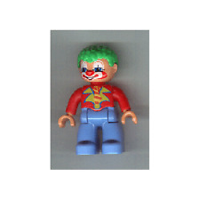 LEGO 5606 - Duplo Figure Lego Ville, Male Clown, Green Hair - Mini Figure