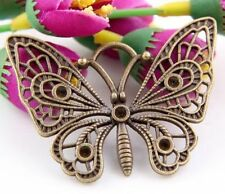 5Pcs Bronze Plated Butterfly Charms Pendant 48x38mm (Lead-free)