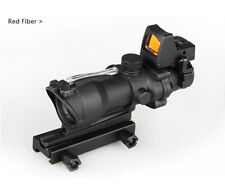 Hot Sale 4x32 ACOG Style Fiber Rifle Scope With Mini Red Dot Sight BWR-019RED