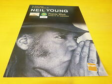 NEIL YOUNG - PRAIRIE WIND !!!!!!!!!!!!!!! FRENCH ADVERT