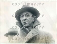 1927 Captain C M Miller of Ship SS Charles Whittemore After Rescue Press Photo