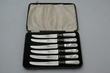 (ref065AR) Good Set of Mother of Pearl Handled Cutlery Tea Knives