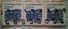 1990 Scott 2464 Lunch Wagon 1890's block of three used cancelled 23 cents