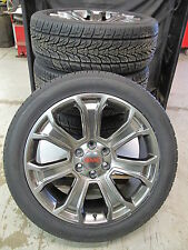 "22"" NEW GMC SIERRA YUKON GUNMETAL FACTORY STYLE WHEELS 285-45-22 TIRES 5660 SET"