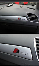 S Line Car Silver Interior Alloy High Quality Decal Emblems Sticker For Audi