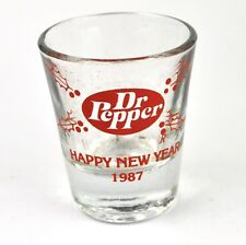 Dr Pepper Cola Glas USA Stamper Stamperl Schnapsglas shot glass 1987