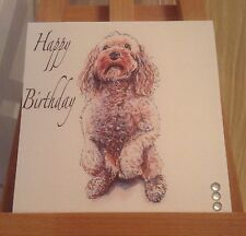 Handmade Personalised Poodle Cockerpoo Dog Mothers Day / Birthday Card