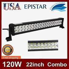 22 Inch 120W Led Light Bar  Spot /Flood ComboWork Lights 4WD UTE Offroad SUV ATV