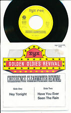 """CREEDENCE CLEARWATER REVIVAL 45 TOURS 7"""" GERMANY HEY TONIGHT"""