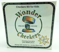 Wonder Checkers Kit for Kids Bonus 3D Tic Tac Toe New in sealed Box