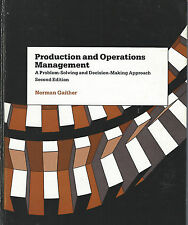 Production And Operations Management Second Edition Gaither 1984 Hardcover Book