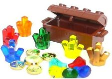 ☀️NEW LEGO 6 Crystal Rock Treasure Chest with Gold Coins & Diamonds Jewels RARE