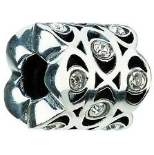 Authentic Chamilia JC-4A Eye Clear CZ Bead Charm Sterling Silver