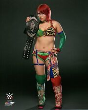 "WWE PHOTO ASUKA WITH NXT WOMENS TITLE BELT OFFICIAL STUDIO WRESTLING 8x10"" PROMO"