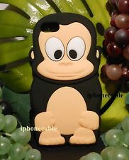 USA FAST SHIP FUNNY 3D BLACK FOREST MONKEY IPHONE 5/5S SOFT CASE COVER FREE GIFT