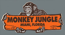 Monkey Jungle-Miami FL -Vintage 50's Style Travel Decal