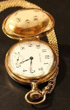 1930 Vintage Waltham 14 Ct. Gold Gent's Pocket Watch