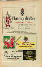 ADVERT Vineyard Wine Chateauneuf du Pape Vieux Mas des Papes Telegraphe