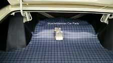 1965-1966 Chrysler 300 & Newport Hardtop RUBBER TRUNK MAT Gray Plaid 65 66