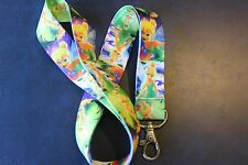 TINKERBELL GREEN Lanyard Neck Strap Keychain ID Badge Holder PETER PAN