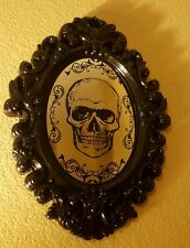 Halloween Skull faux Mirror Door Wall Prop Decor  Scary Creepy for haunted house