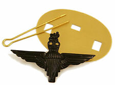 NEW Official Parachute Regiment Black Cap Badge ( PARA Airborne Pathfinder