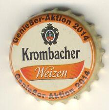 ** KRONKORKEN - KROMBACHER WEIZEN - GENIESSERAKTION 2014 *** BOTTLE CAPS