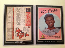 1959 BOB GIBSON RC Cardinals HOF 2016 Topps Anthology 5X7 Silver #ed/49 made