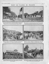 Trucks Camions Deutsches Heer Road Lublin & Krasnik Poland Pologne War 1915 WWI