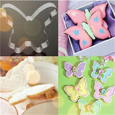 FD3031 Butterfly Stainless Steel Chocolate Cookie Cutter Fondant Cake DIY Mold♫