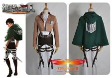 Attack on Titan Shingeki no Kyojin  Levi Levil Scouting Legion Cosplay Costume