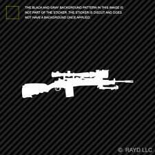 (2x) M21A / C-IED Rifle Sticker Decal Die Cut Self Adhesive Vinyl m14 m21 crazy