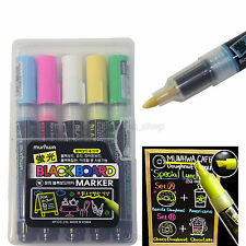 Munhwa Fluorescent  Black Board Marker Pen 5 Colors Dry-Erase Water based ink