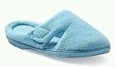 Dearfoams Women's Hook & Loop Tab Clog  Blue Slippers Size M (7-8)