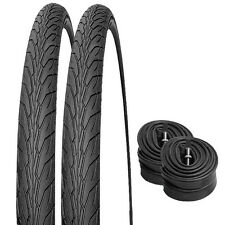 2 x New 700 x 35c Hybrid Bicycle/Cycle Tyres and 2 x Inner Tubes Presta Valves