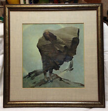 NC WYETH Winter (Death) Framed Print Brandywine River Museum