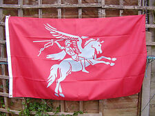 British Army Para/Airborne Forces Famous 'PEGASUS' Badge On Military Maroon Flag