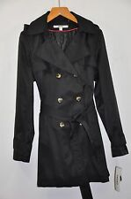 NWT Women's DKNY Hooded(Detachable) Double-Breasted Trench Coat. Sz.XL $180.