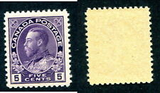 Mint Canada 5 Cent Violet KGV Admiral Stamp #112 (Lot #8106)