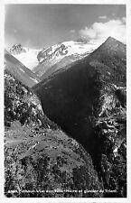 B98235 finhaut vue sur tete noire et glacier du trient real photo switzerland