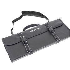 7 Pocket Folding 3 step Chef Knife Case Knife Chef Bag Wallet Cutlery Black