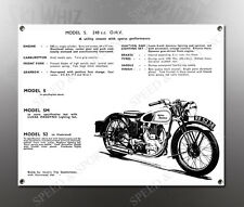 VINTAGE ROYAL ENFIELD 1938 MODEL S 248cc IMAGE BANNER NOS IMAGE REPRODUCTION