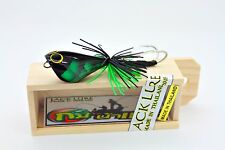 HAND MADE TOPWATER WOOD FISHING Jumping Frog 4.5 cm. Premium Quality lure wood