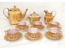 Service café porcelaine Paris verseuse sucrier tasses Napoléon III XIXème
